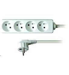 Prodlužovací přívod (kabel) 4 zásuvky 5m, 4 x 1mm2, bílý PP23