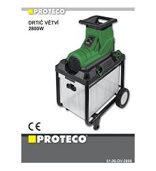 Drtič větví 2800W PROTECO 51.06-DV-2800