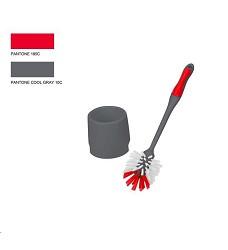 WC souprava šedo/červená 32x7,5cm 340219