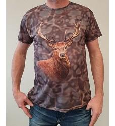 Tričko ARC 4027 krátký ruk.pro myslivce a rybáře jelen