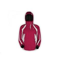 Bunda BESSY HUSKY dámská zimní lyžařská s elastickou kuklou červená
