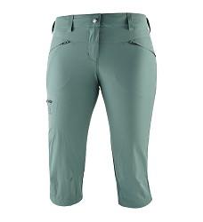Kalhoty SALOMON WAYFARER CAPRI dámské balsam green