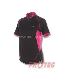 Cyklistický dres dámský ROGELLI APRILLIA 010.006 kr.ruk. černá/růžová