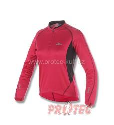 Cyklistický dres dámský ROGELLI APRILLIA 010.055 dl.ruk. růžová/černá