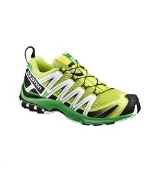 Obuv SALOMON XA PRO 3D M pánská outdoorová bota lime punch./classic green/white