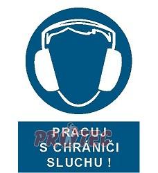 B.t.plast Pracuj s chrániči sluchu A4