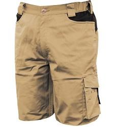 Kalhoty krátké-bermudy stretch 8734, -béžové -025, 97% bavlna +3% spandex,, IS