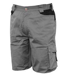 Kalhoty krátké-bermudy stretch 8734, -šedé -080, 97% bavlna +3% spandex,, IS