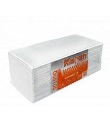 Ručníky papírové KAREN  PREMIUM ZZ skládané 3000 ks bílé, , 22x23cm dvouvrstvé