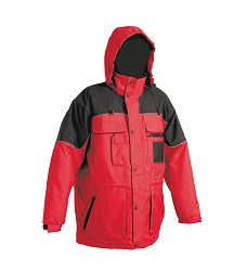 Bunda ULTIMO zimní, nepromokavá s kapucí v límci, červeno/černá
