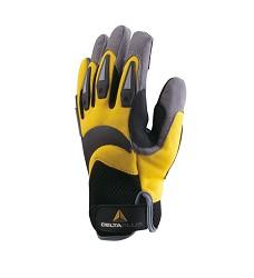 Rukavice ATHOS na suchý zip žluto-černé